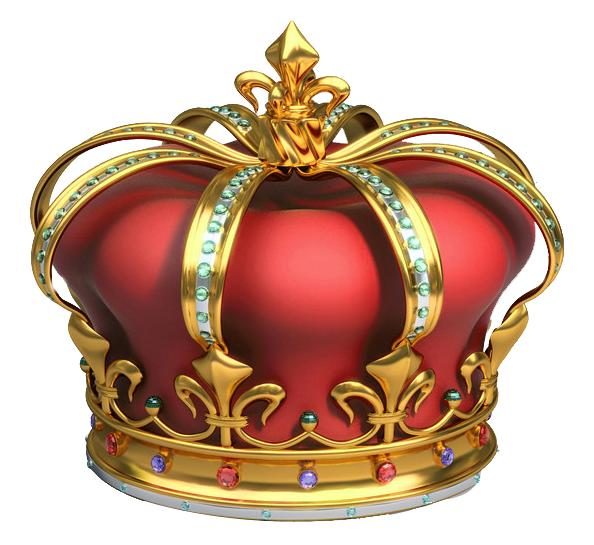 Crown gold diamonds hd clipart vector black and white stock Gold and Red Crown with Diamonds PNG Clipart   Gallery Yopriceville ... vector black and white stock