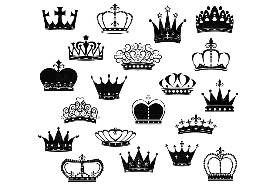 Crown illustration clipart clip art free stock Crown Silhouette ClipArt clip art free stock