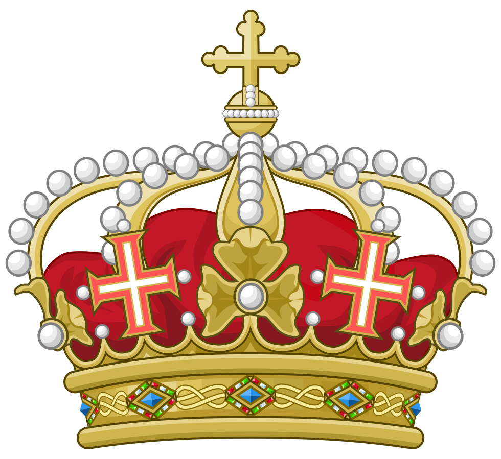 Crown with red jewels clipart graphic transparent stock Crown Coroa real Heraldry Coat of arms Royal family - crown jewels ... graphic transparent stock
