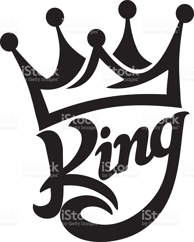 Crown king clip art svg library Crown King Typography stock vector art 518483115 | iStock svg library