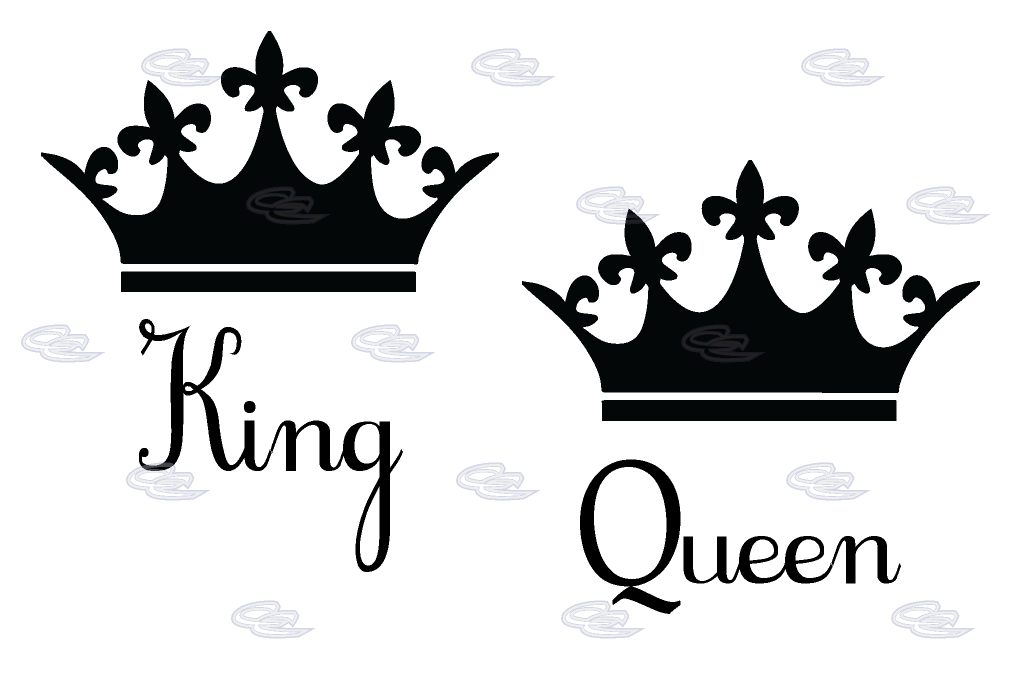Black and white crown design clipart