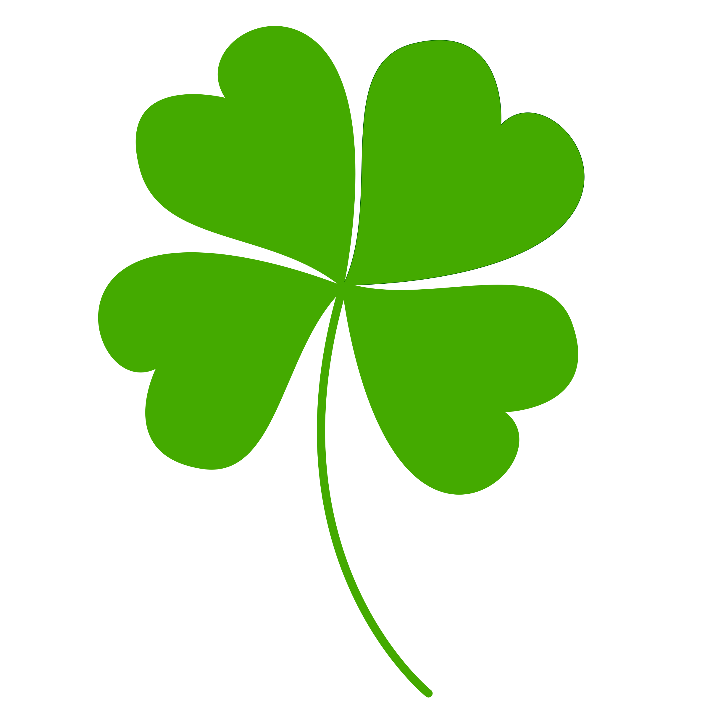 Crown leaf clover clipart picture black and white download 28+ Collection of Four Leaf Clover Clipart | High quality, free ... picture black and white download