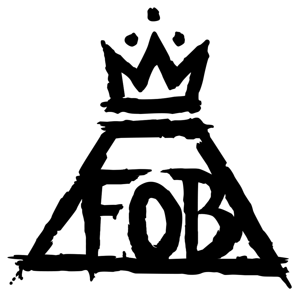 Crown logo clipart vector royalty free library Fall Out Boy Logo transparent PNG - StickPNG vector royalty free library