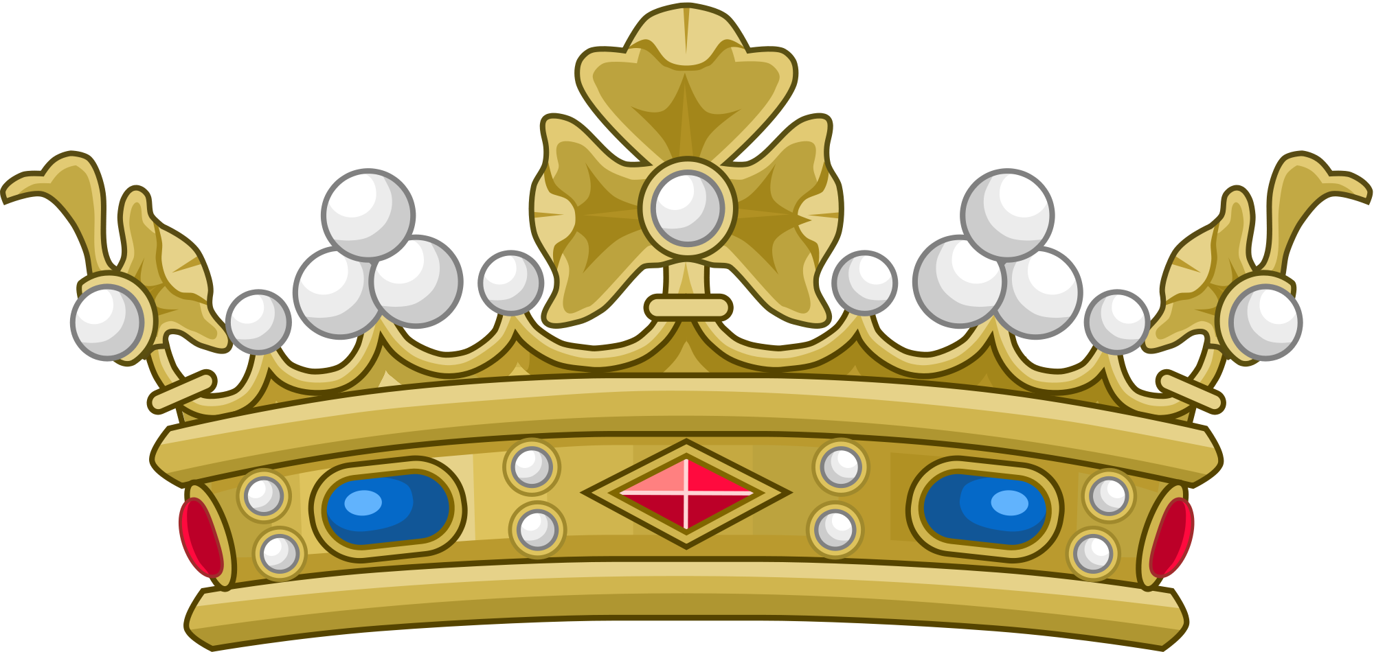 Crown made of branches clipart graphic library File:Crown of a Marquis of France (variant).svg - Wikimedia Commons graphic library