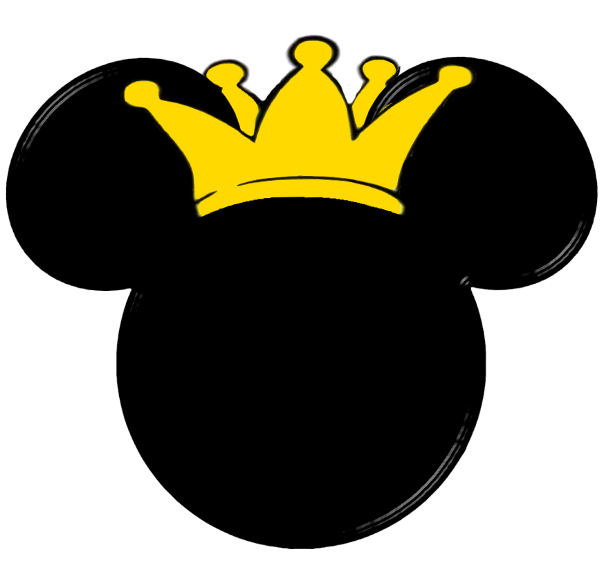 Mickey mouse head with crown clipart vector freeuse Pin by Karina Bernal on mickey principe | Pinterest | Baby mickey ... vector freeuse