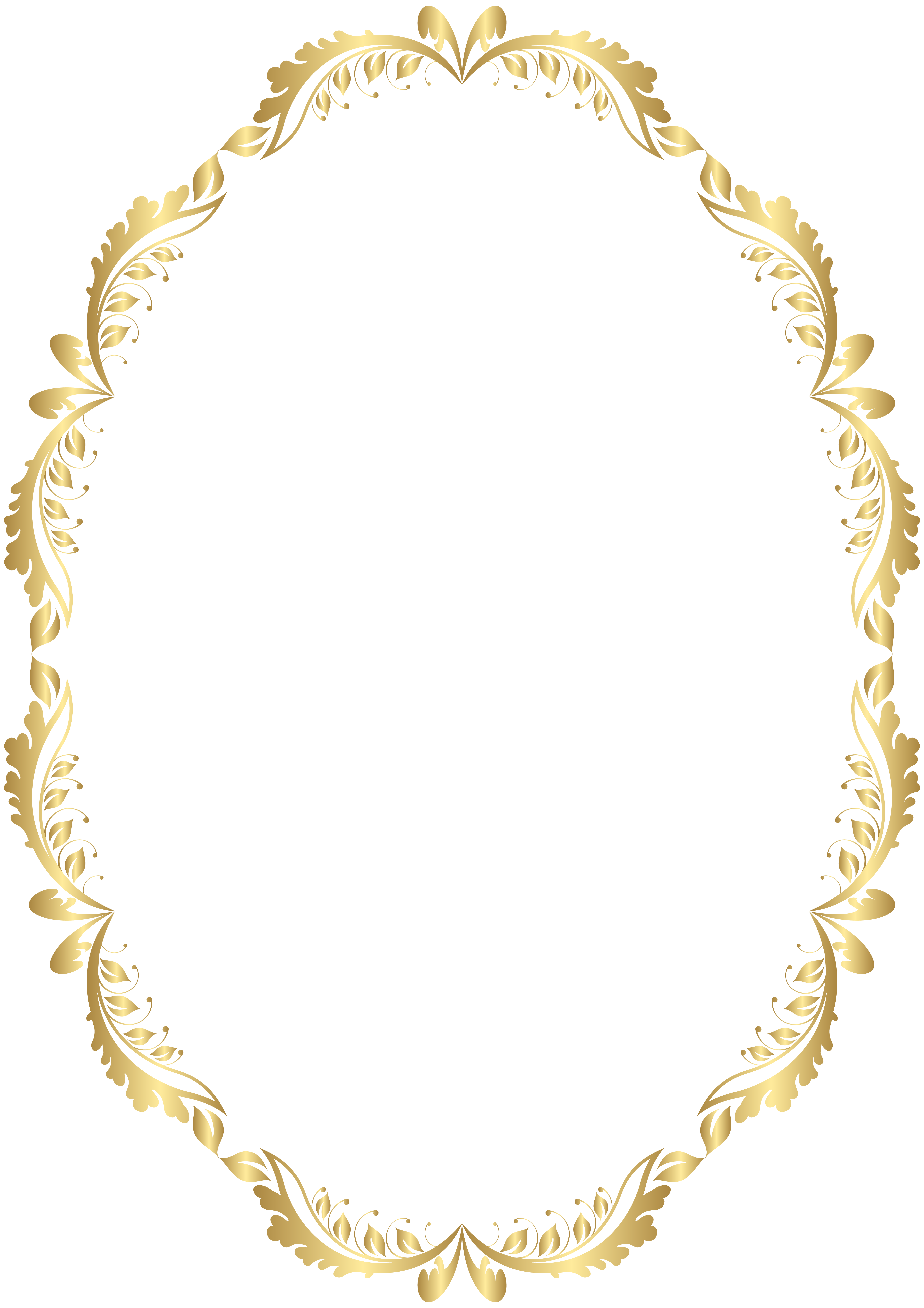 Gold crown clipart black border image royalty free stock Golden Oval Border Transparent PNG Clip Art | anandhakumar ... image royalty free stock