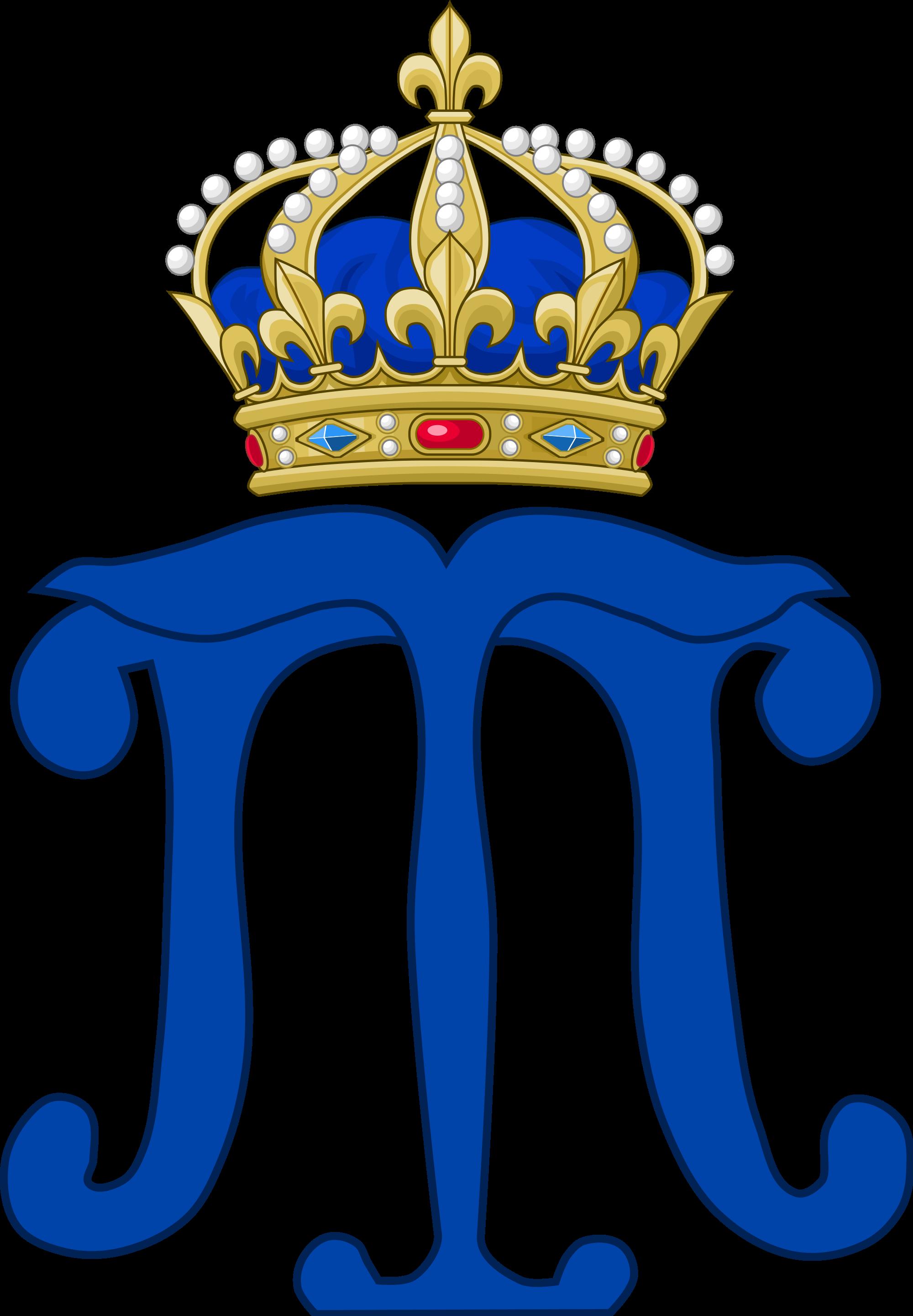 Crown monogram clipart svg transparent File:Royal Monogram of Marie Thérèse of Austria, Queen of France ... svg transparent