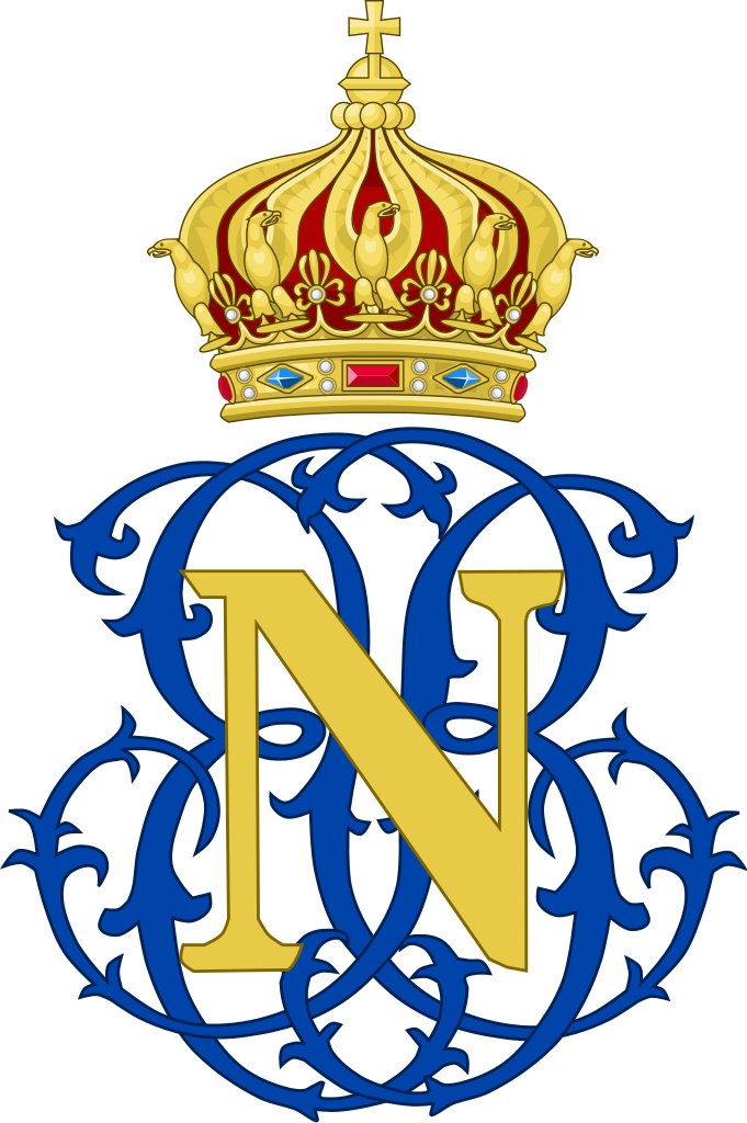 Crown monogram clipart library File:Imperial Monogram of Napoleon, Prince Imperial of France.svg ... library