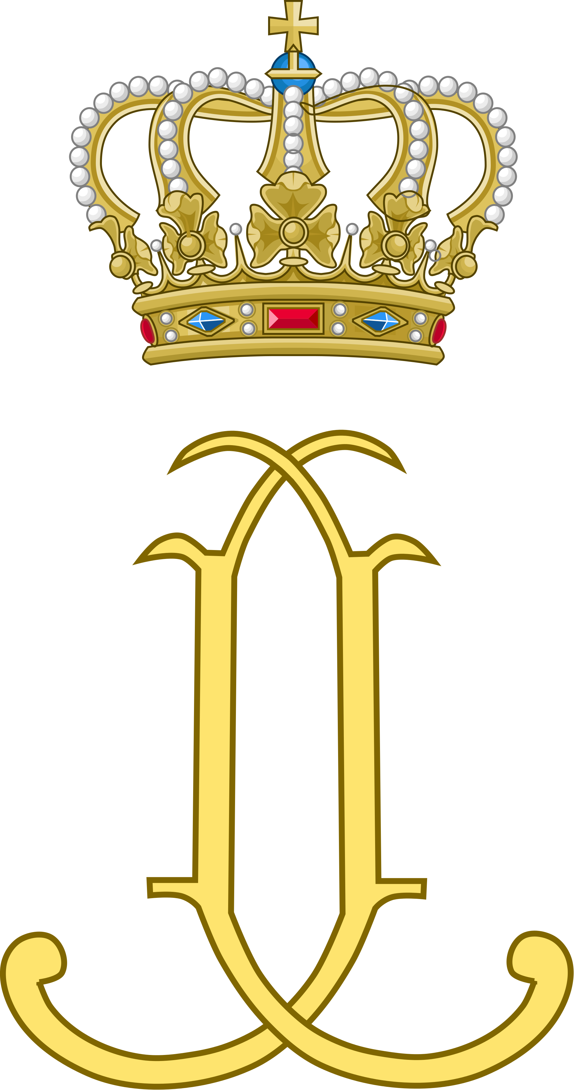 Crown monogram clipart clip art free Grand Duke Jean and Grand Duchess Josephine Charlotte of Luxembourg ... clip art free