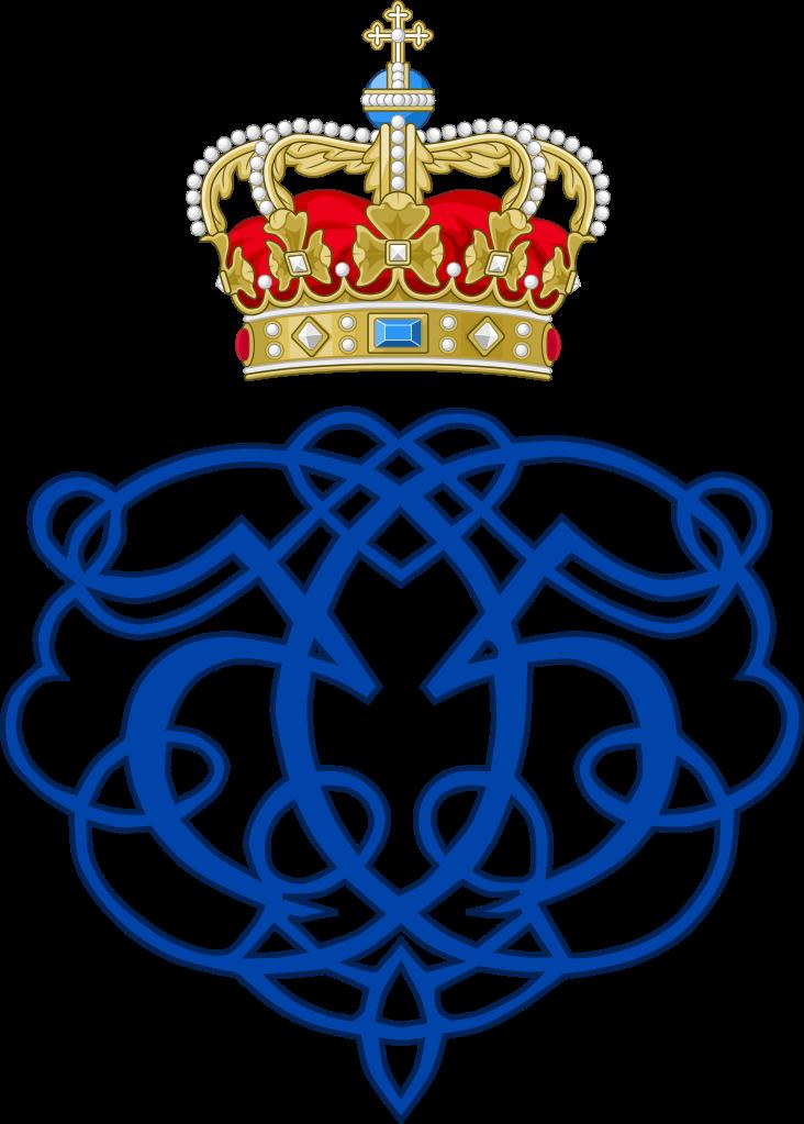Crown monogram clipart image download File:Royal Monogram of King Christian V of Denmark.svg - Wikipedia image download