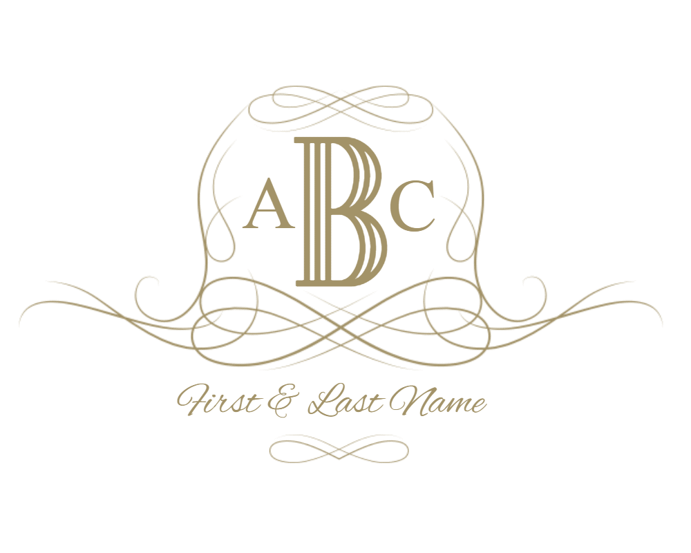 Crown monogram clipart royalty free library Free Customizable Monogram Frames and Borders royalty free library