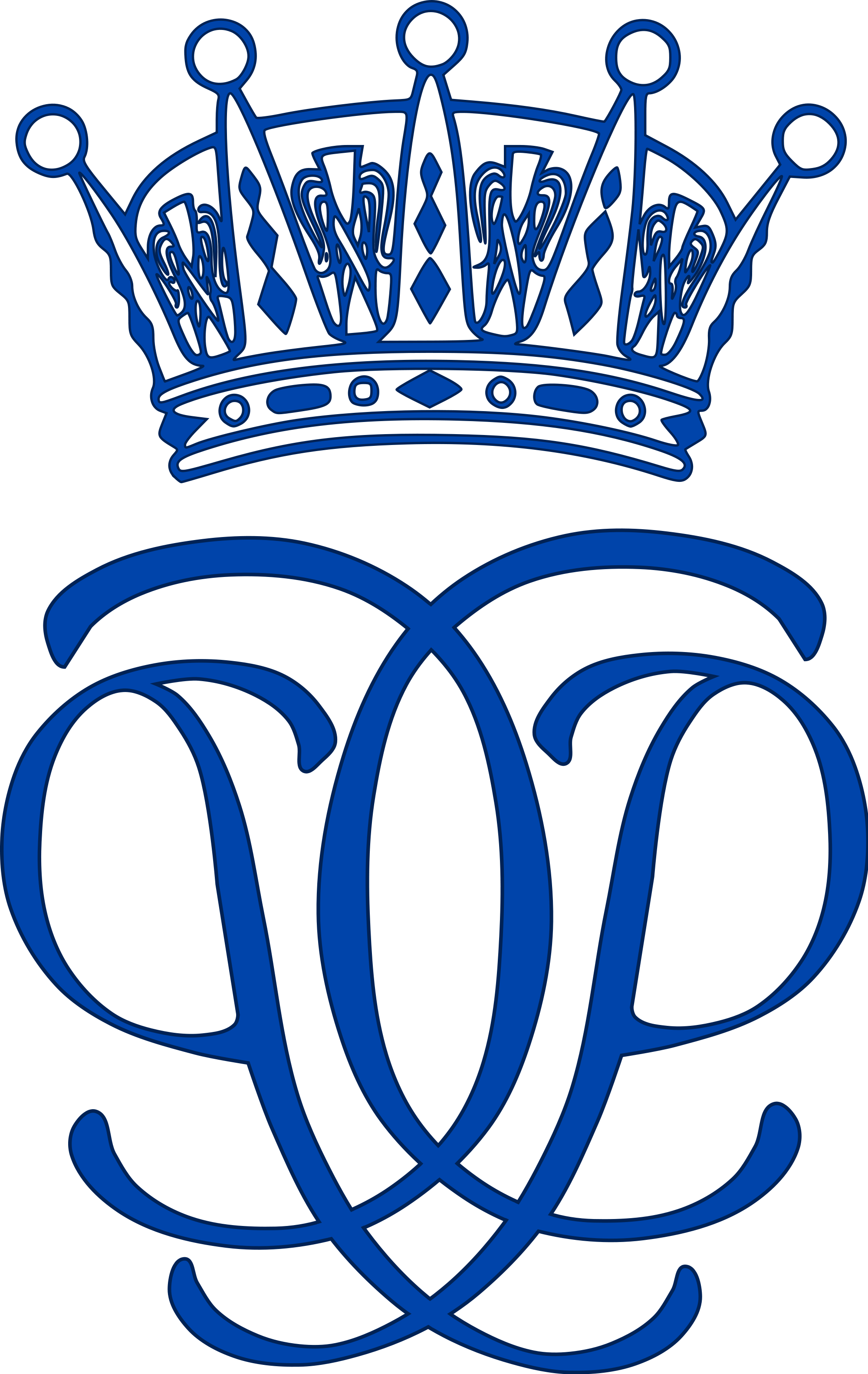 Crown monogram clipart clip stock monogram królewski szwedzkiego księcia Värmland Karola Filipa ... clip stock