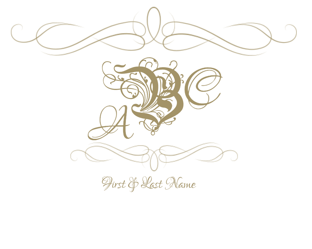 Crown monogram clipart graphic freeuse Free Customizable Monogram Frames and Borders graphic freeuse