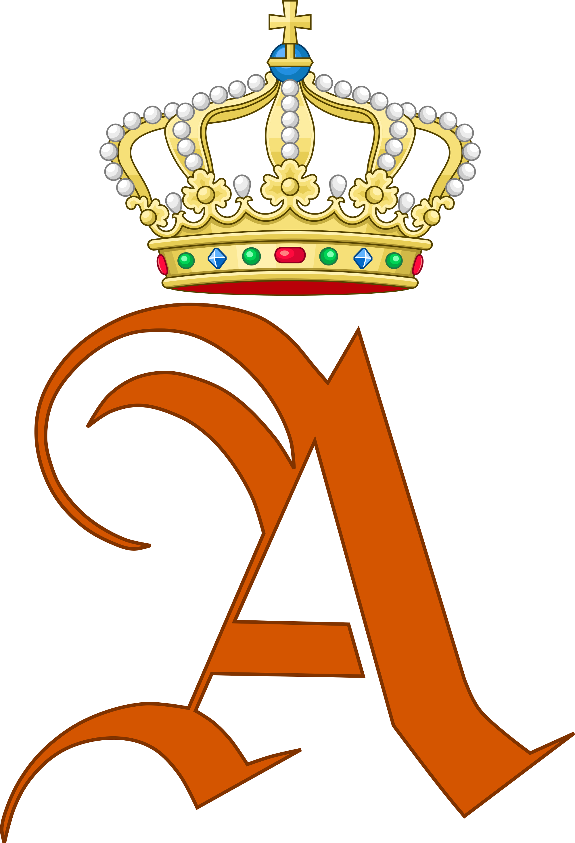 Duchess crown clipart graphic library Queen Anna Pavlovna of the Netherlands | Royal Monograms | Pinterest ... graphic library