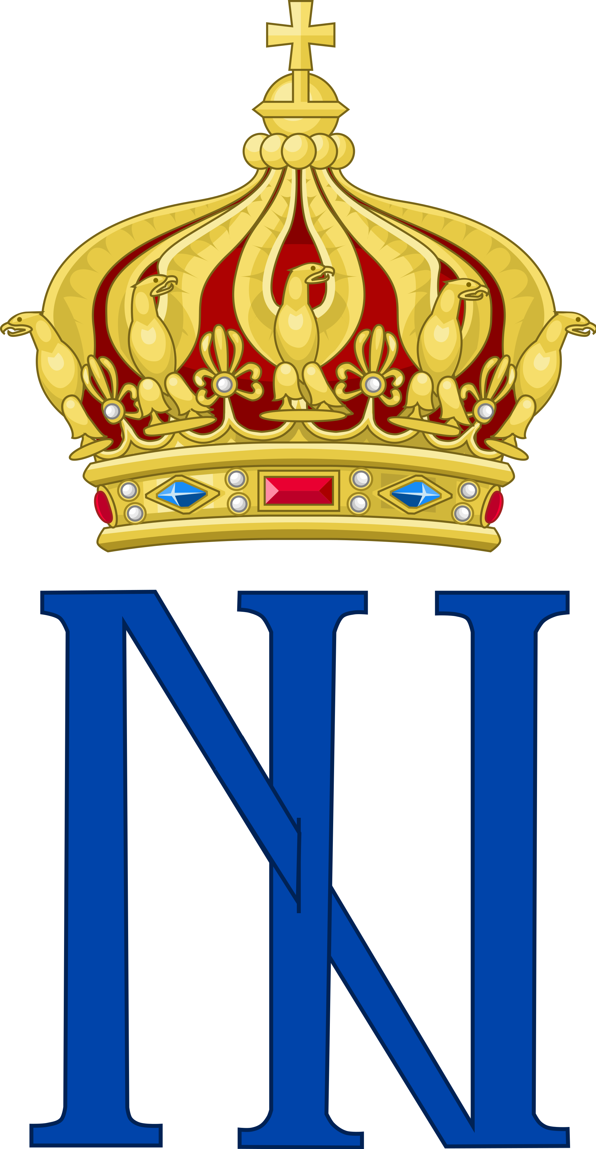 Crown monogram clipart free library File:Imperial Monogram of Emperor Napoleon III of France, Variant 3 ... free library