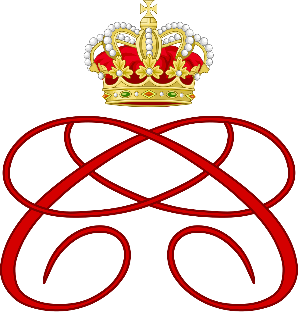 Crown monogram clipart png library download File:Royal Monogram of Princess Charlene of Monaco.svg - Wikipedia png library download