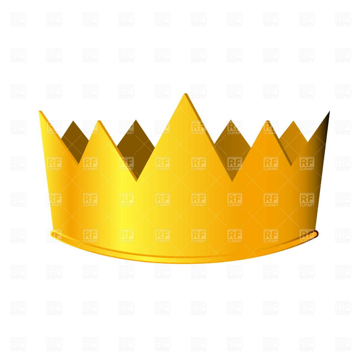 Crown of a king clipart jpg transparent library Cartoon king crown with precious stone Vector Image #9728 – RFclipart jpg transparent library