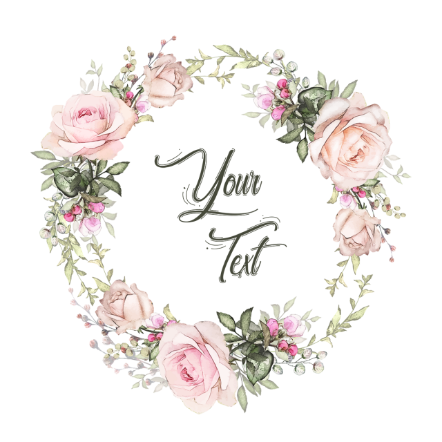 Flower wreath clipart free. Floral badges collection set