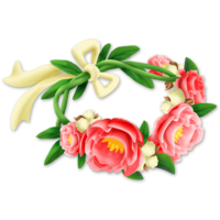 Flower png the most. Crown of flowers clipart