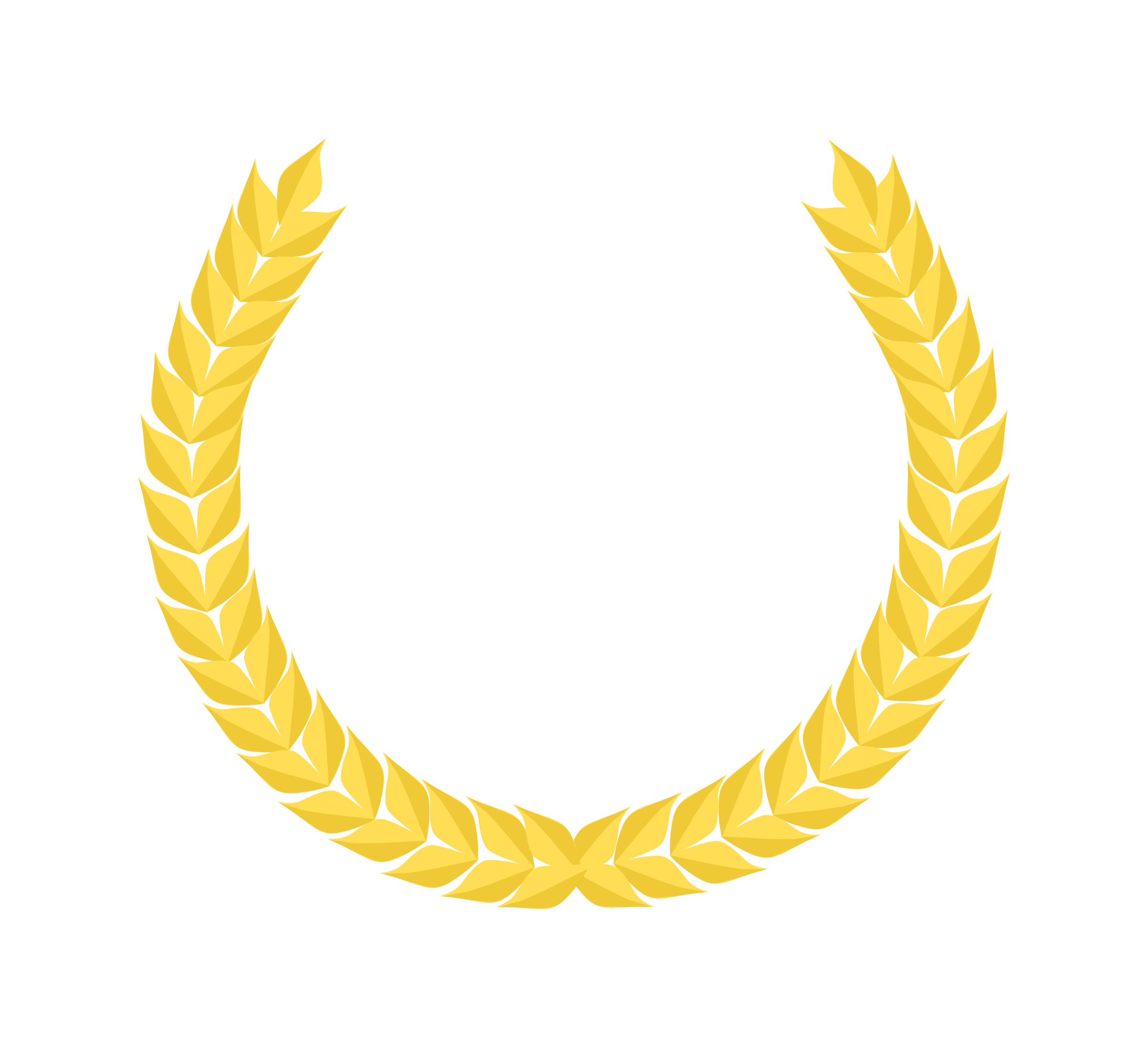Crown of leaves rome clipart image transparent library award wreath clipart yellow - Clipground image transparent library
