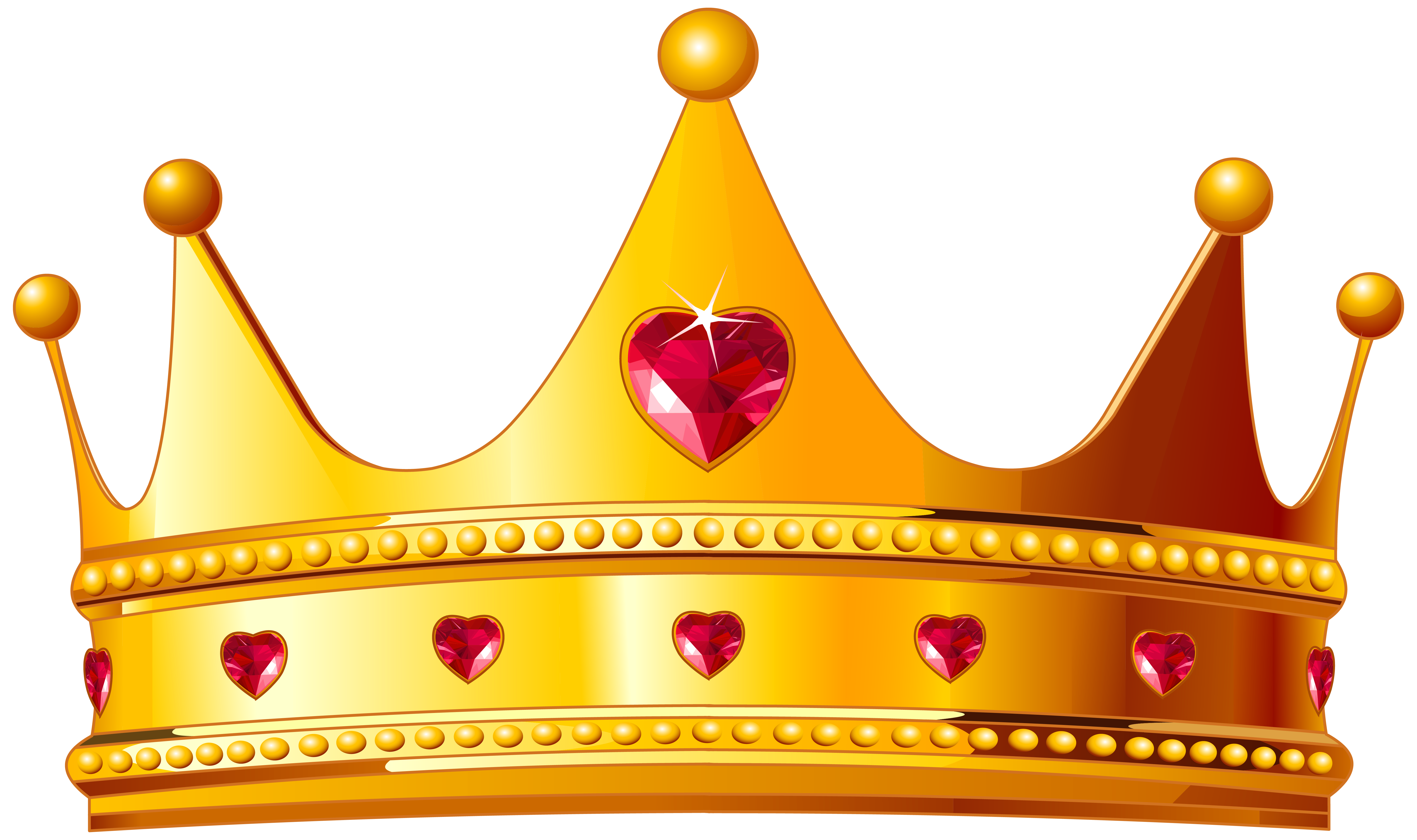 Famous with crown clipart graphic transparent download Golden Crown with Hearts PNG Clipart Image | Princess Printables ... graphic transparent download