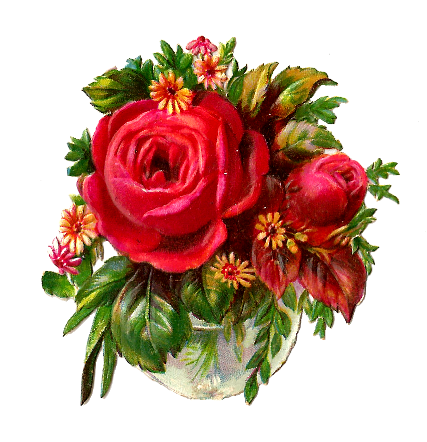 Free victorian rose clip. Crown of roses clipart