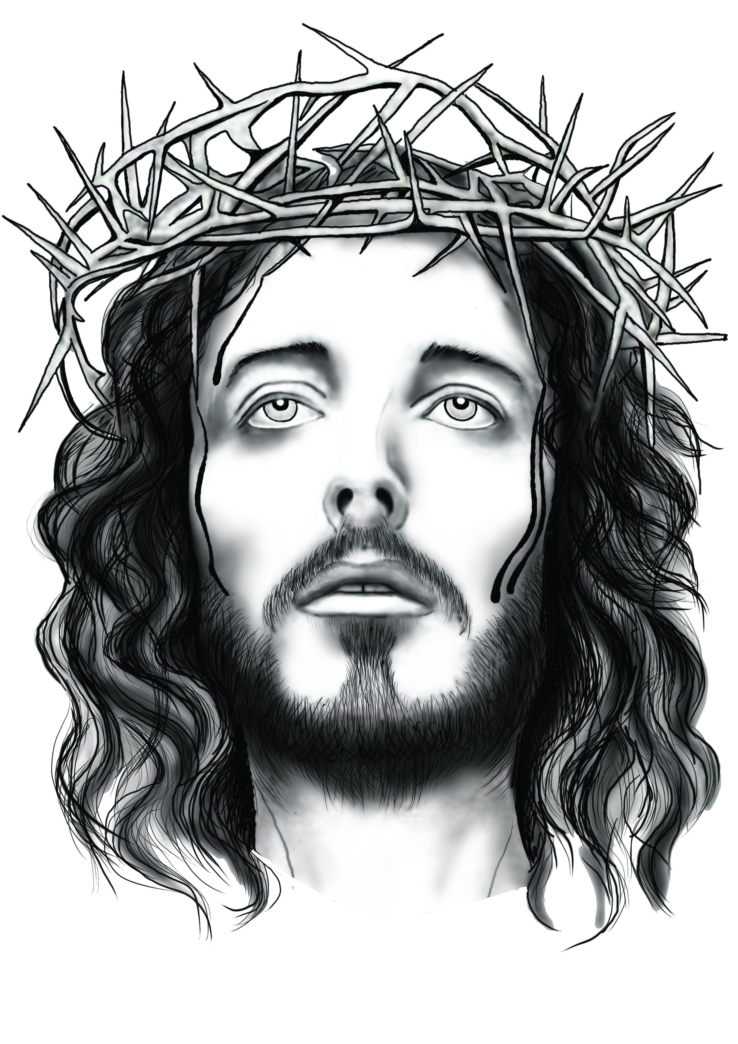 Crown of thorns with jesus clipart picture library library PNG Jesus Face Transparent Jesus Face.PNG Images. | PlusPNG picture library library