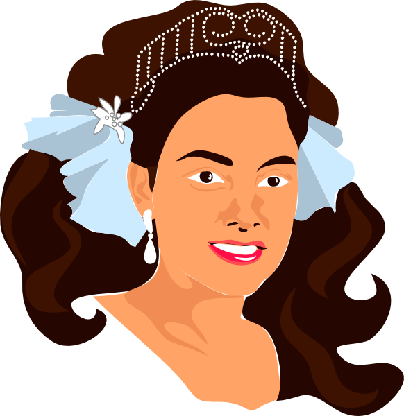 Crown on head hair clipart image download Princess Wearing Crown Clip Art at Clker.com - vector clip art ... image download