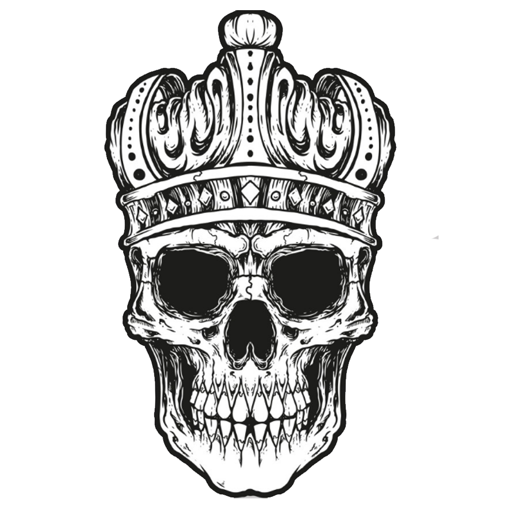 Crown on head hair clipart png black and white download Crown Skull Pillow Clip art - Skull with crown 1000*1000 transprent ... png black and white download