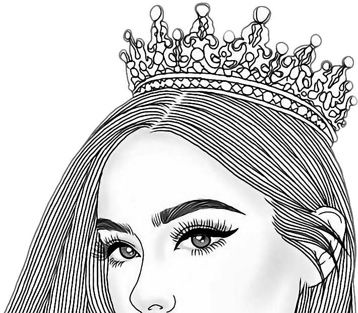 Crown on head hair clipart picture free stock queen girl tumblr top crown princess... picture free stock