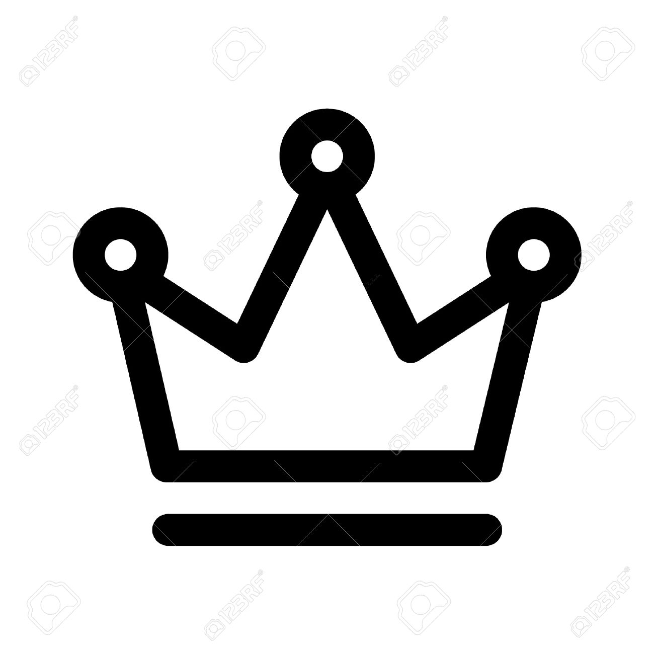 Crown outline logo clipart graphic library Crown Of The King Line Art Icon For Apps And Websites Royalty Free ... graphic library