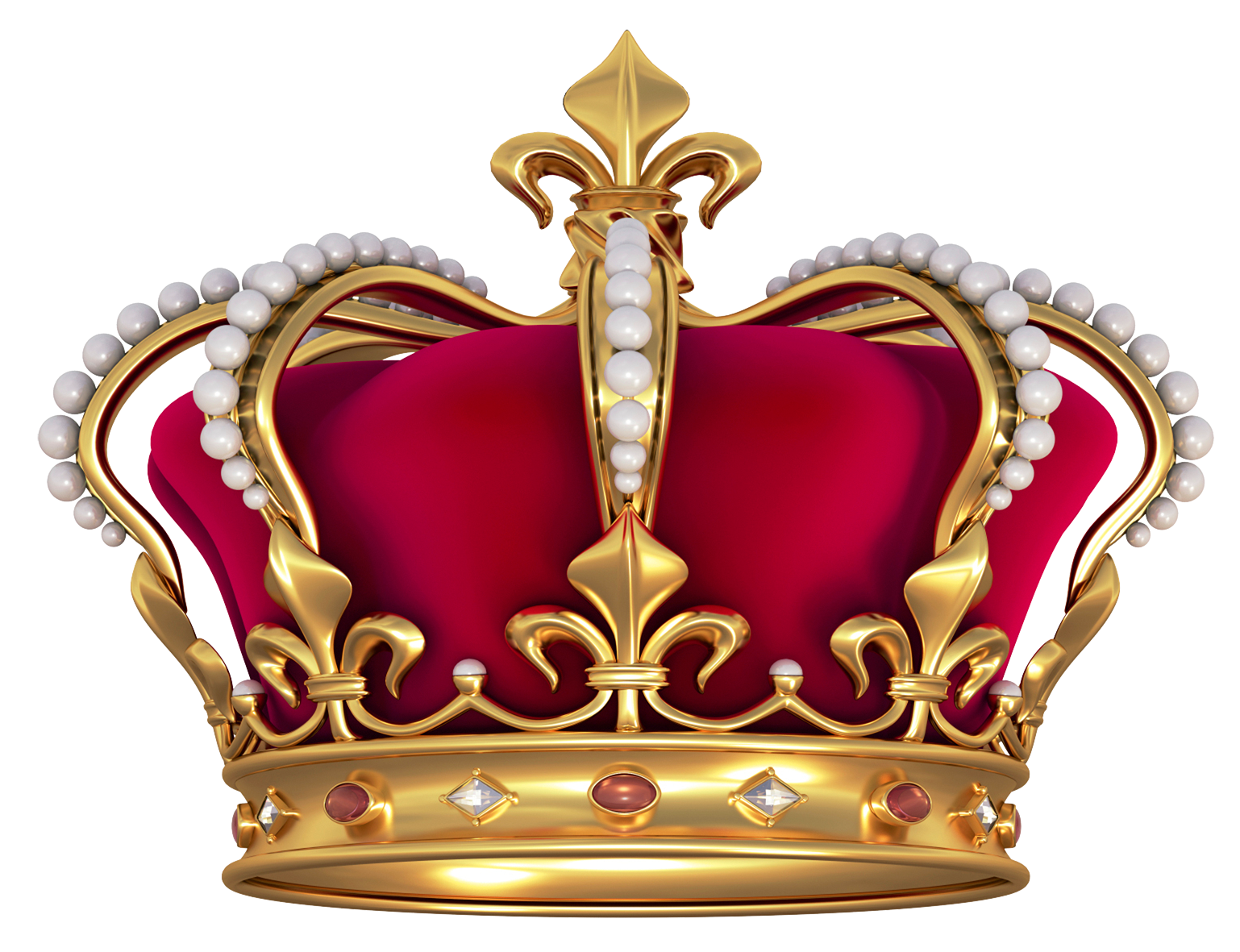 Gold bling crown clipart free Red Gold Crown with Pearls PNG Clipart Picture free