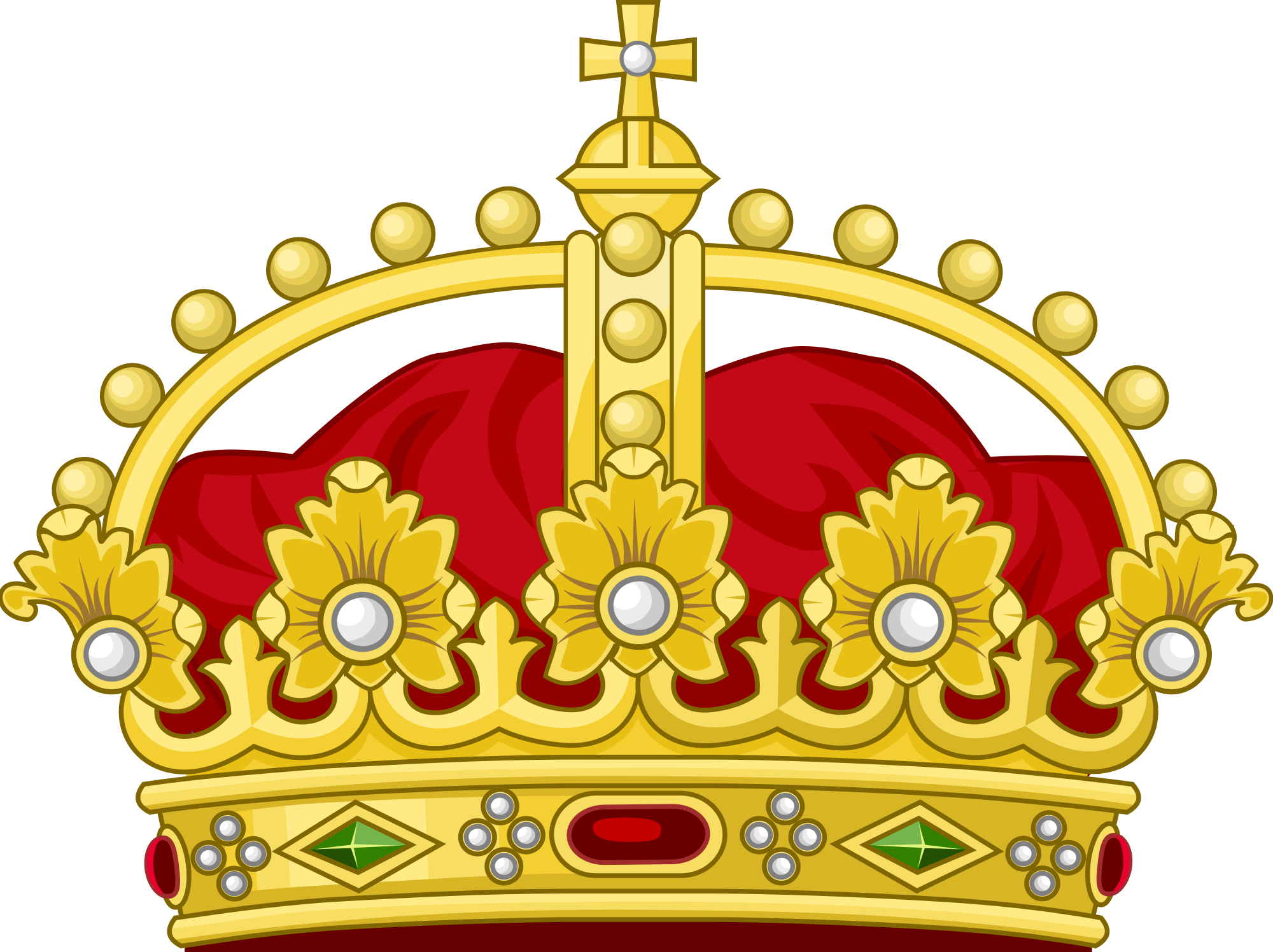 Crown red clipart jpg royalty free stock Gold And Red Crown Png Cartoon With Diamonds jpg royalty free stock