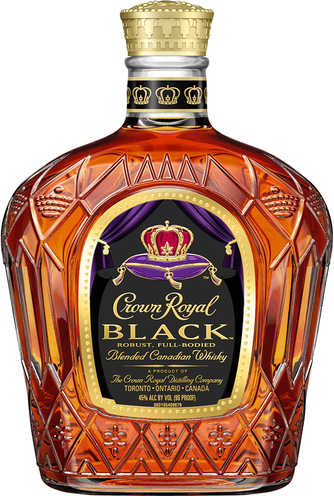 Wild turkey 101 whiskey clipart image Crown Royal Black | Black Whisky | Crown Royal image