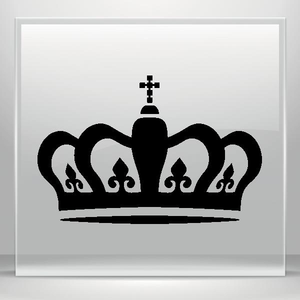 Crown royalstripes clipart svg transparent Simple color vinyl Royal Crown Chess Queen King Kingdom | Stickers ... svg transparent