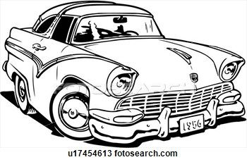 Crown victoria clipart picture freeuse download Illustration, lineart, 1956, ford, crown, victoria, classic Clipart ... picture freeuse download