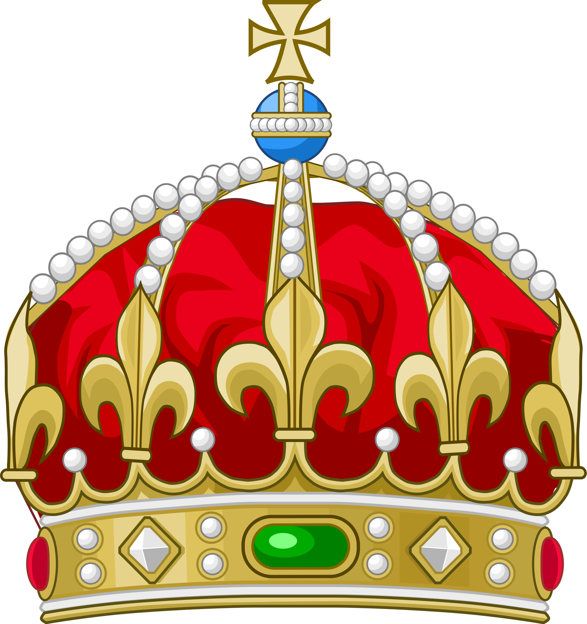 Crown with cross on top clipart clip royalty free library  clip royalty free library