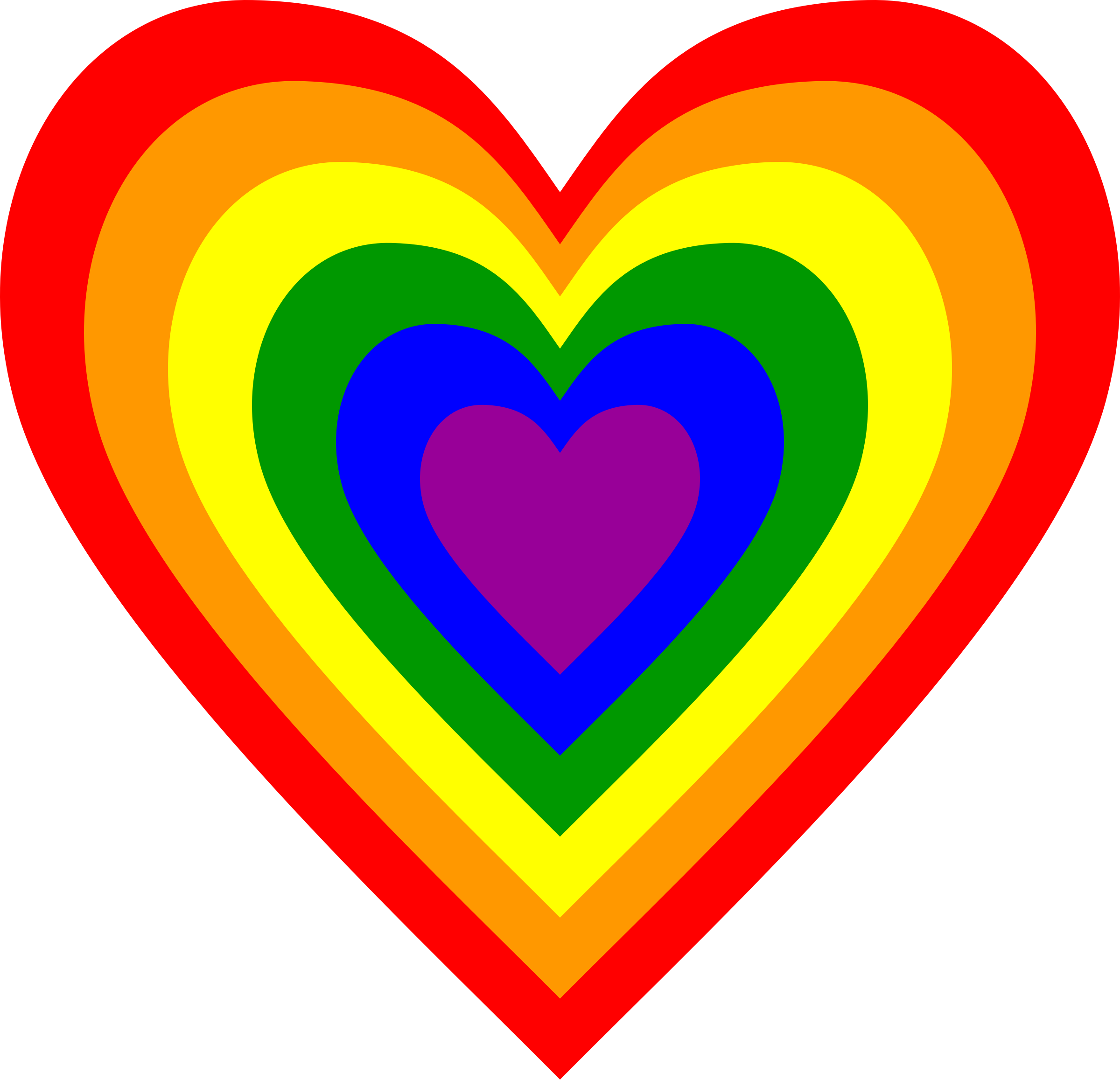 Lgbt heart clipart png free 28+ Collection of Rainbow Heart Clipart | High quality, free ... png free