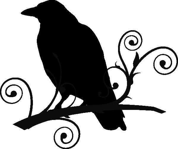 Crowonbranch clipart