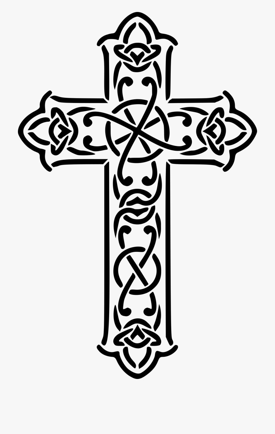 Celtic cross black clipart banner stock Celtic Cross Christian Cross Celtic Knot Crucifix - Celtic ... banner stock