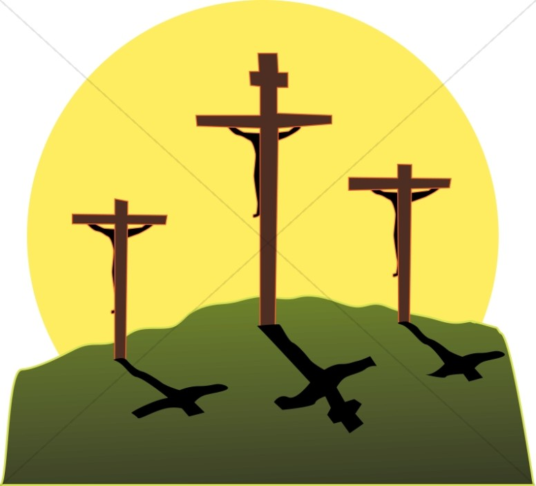 Jesus death clipart clip free stock Crucifixion in Three Colors | Cross Clipart clip free stock