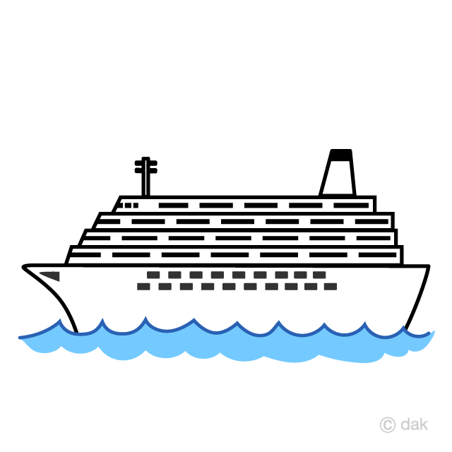 Simple ship clipart picture royalty free stock Simple Large Cruise Ship Clipart Free Picture|Illustoon picture royalty free stock