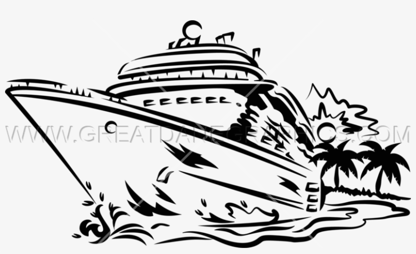 Cruise ship black and white clipart clipart library stock Clip Art Library Collection Of Black And White High - Cruise Ship ... clipart library stock