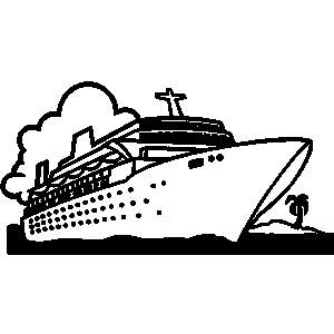 Cruise ship black and white clipart clip art freeuse stock Cruise ship black and white clipart - Clip Art Library clip art freeuse stock