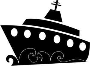 Cruise ship silhouette clipart