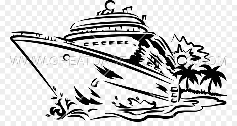 Cruise ship black and white clipart clip royalty free Black Line Background png download - 825*464 - Free Transparent ... clip royalty free
