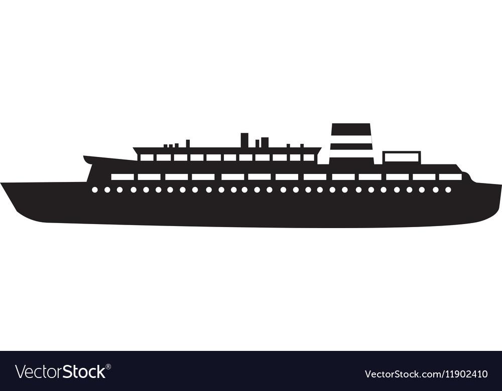 Black silhouette cruise ship design svg freeuse