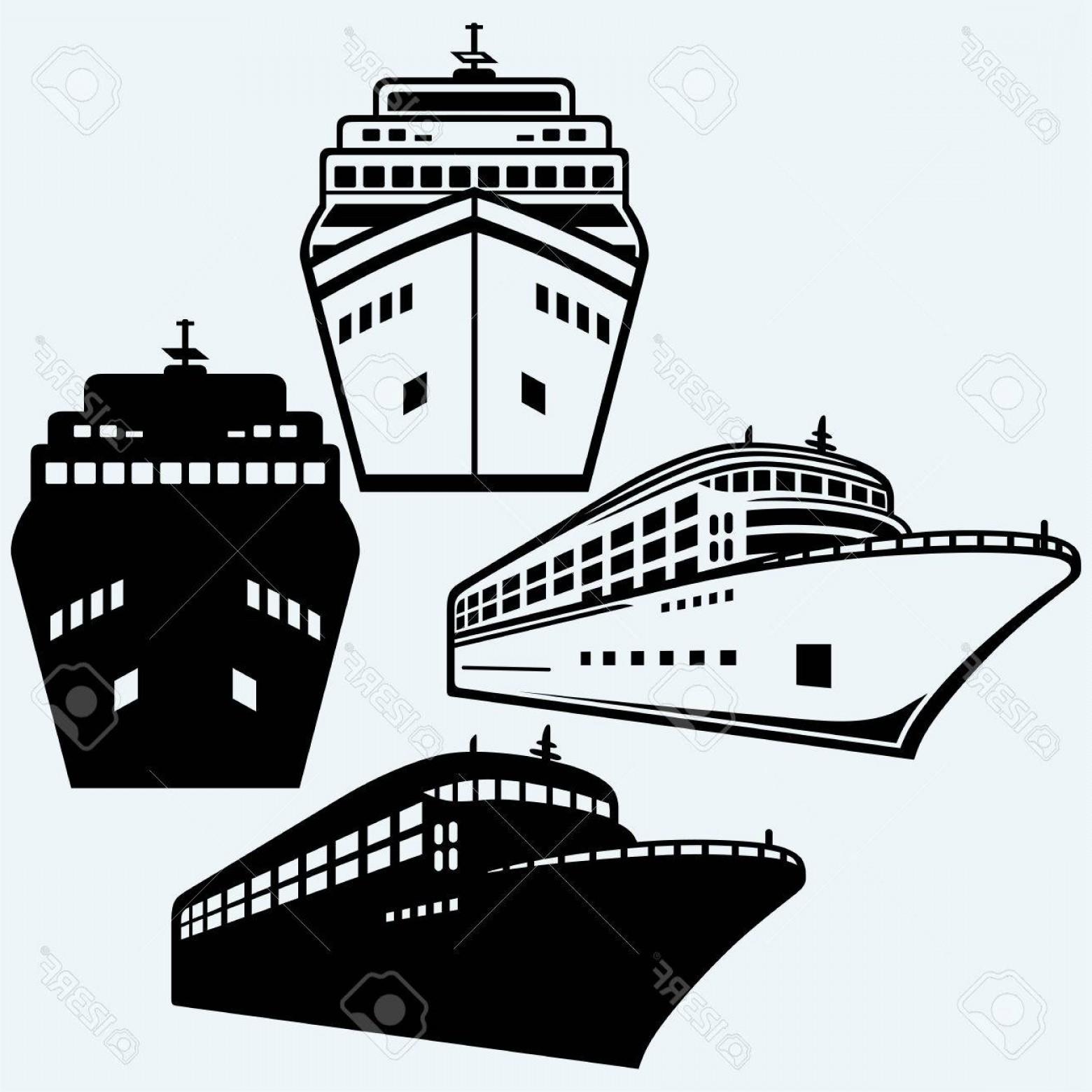 Ship Silhouette Vector   lamaison clip art black and white library
