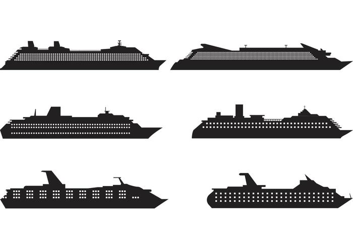 Layered cruise captain hat clipart black and white freeuse stock Cruise Liner Silhouette Vectors - Download Free Vector Art ... freeuse stock