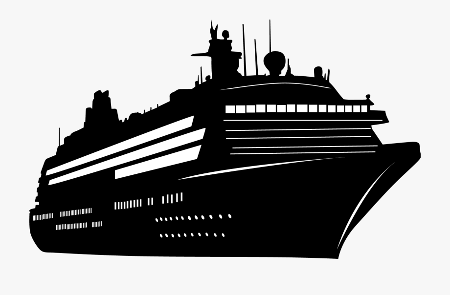 Ship Silhouettes 01 Png - Cruise Ship Silhouette Png ... svg stock